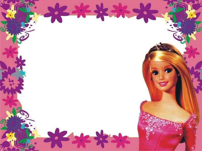 imagenes cumpleaños barbie en blanco