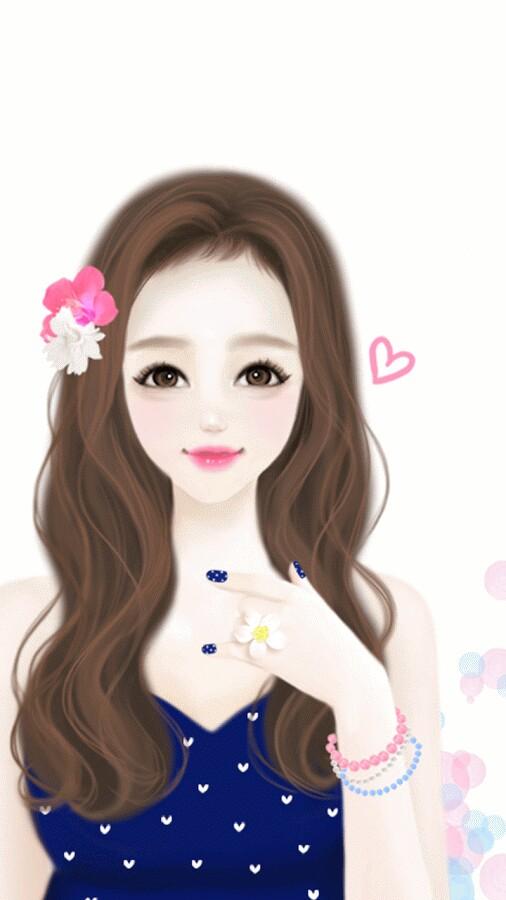 muñeca animada bonita