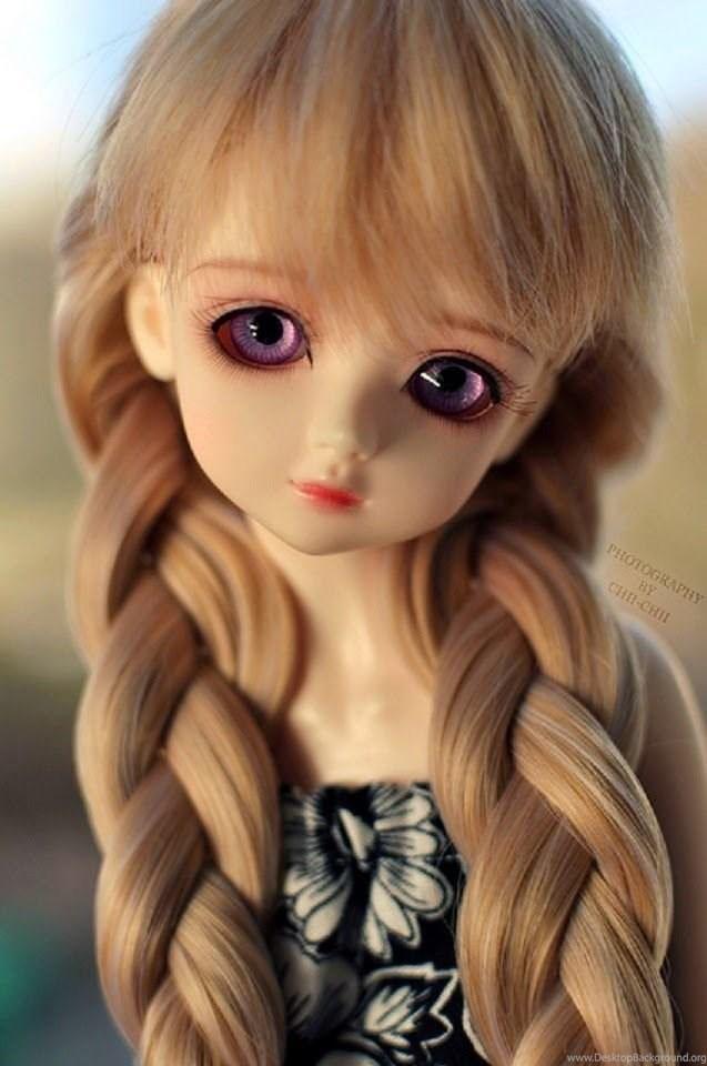 muñeca bonita con trensas