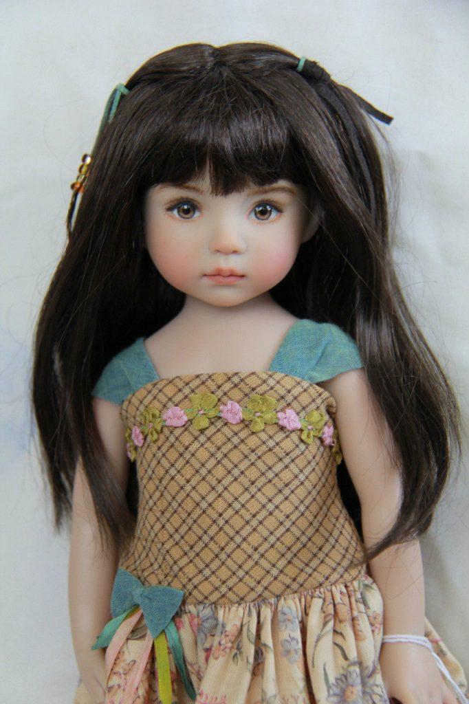 muñeca cabello liso