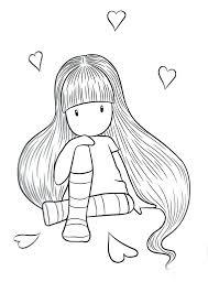 muñeca para pintar pelo largo