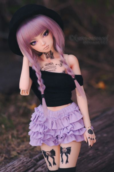 muñecas con falda