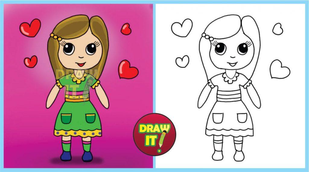 muñecas tiernas para dibujar