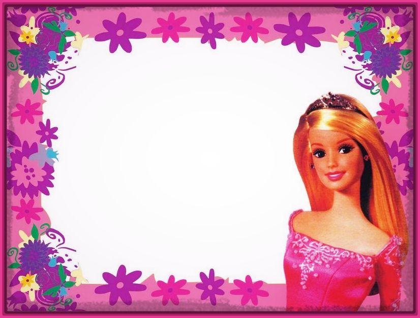 tarjetas cumpleaños barbie en blanco
