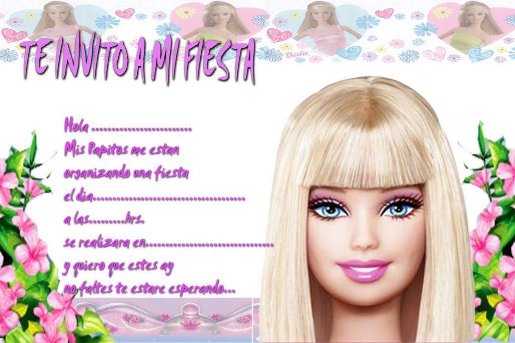 tarjetas de barbie para cumpleaños