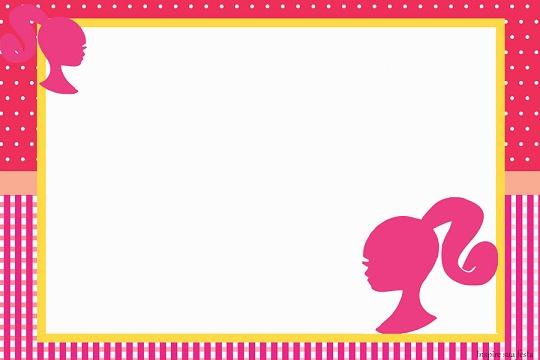 tarjetas de cumpleaños de la barbie editables
